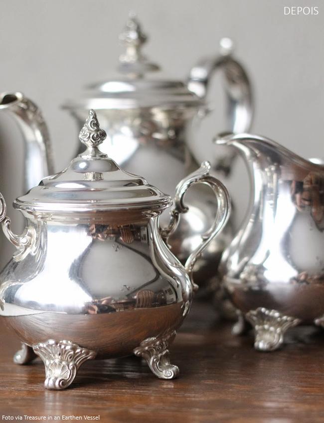 como limpar e armazenar objetos de prata