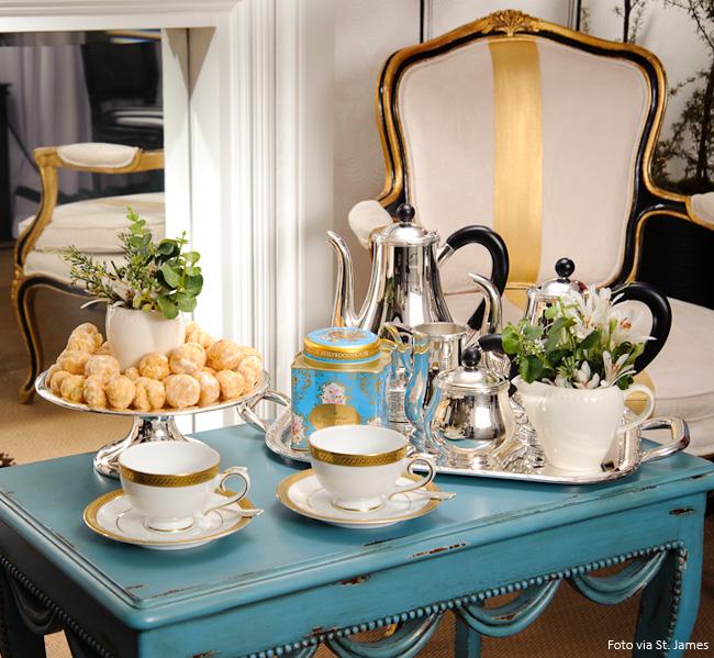 jogo de chá de prata st james