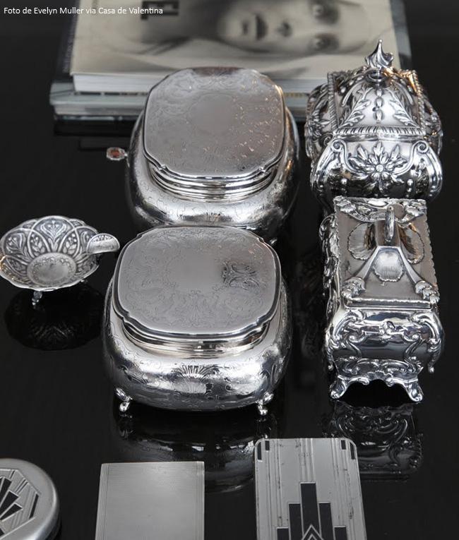 caixinha de prata elegante