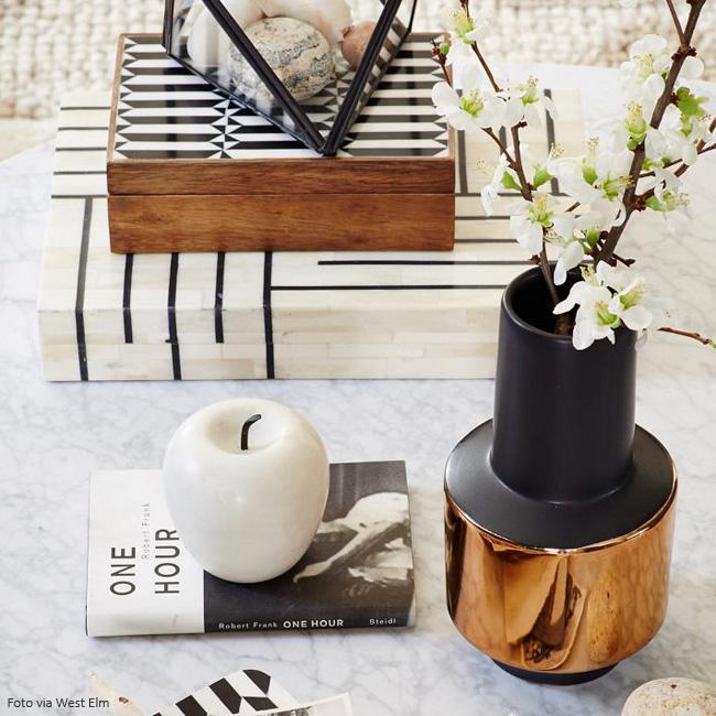 vaso para decorar mesa de centro
