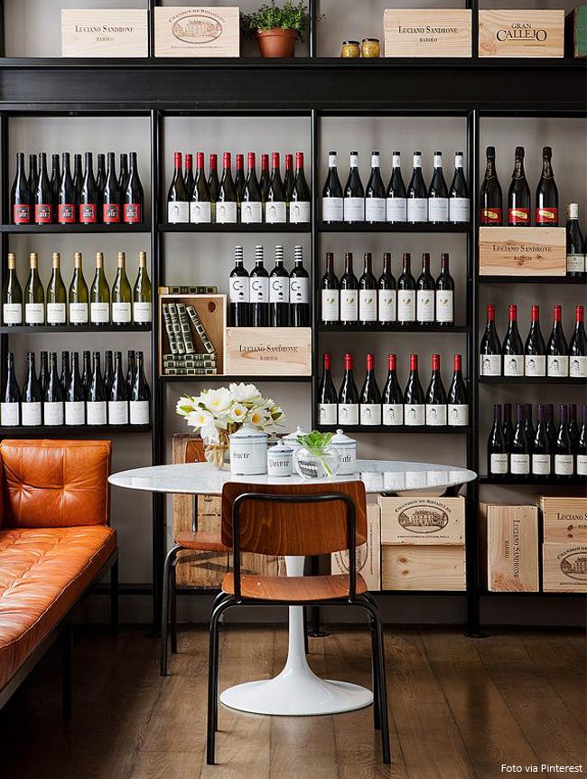 adega de vinho vertical