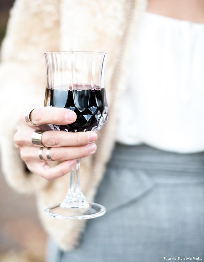 vinho na taça