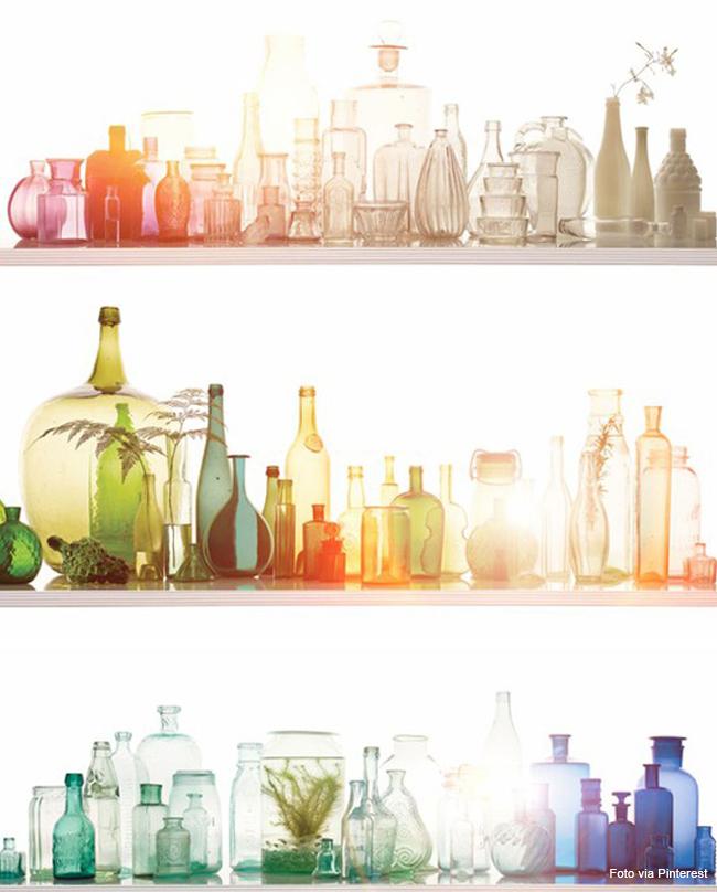 09 vasos de cristais coloridos