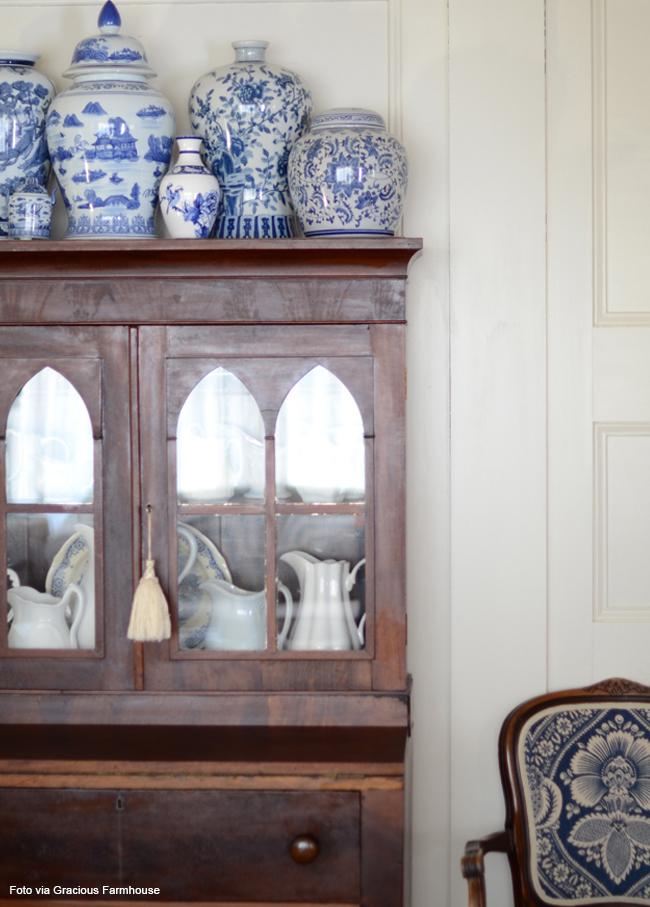 11 vasos classicos azul e branco
