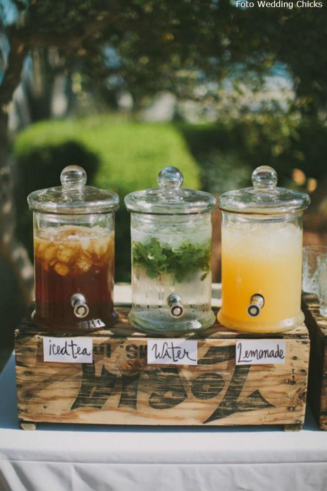 12 pote de vidro com torneira para colocar suco