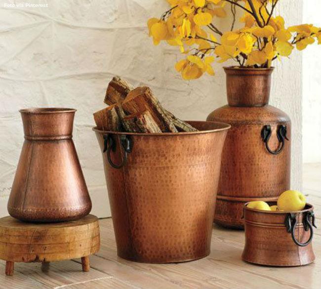 11 Vasos em cobre